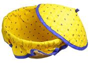 フタ付きブレッドバスケット、パンかご(カリソン・イエロー×ブルー)PAN_C12