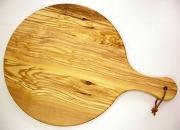 ピザ用オリーブの木のまな板円形、丸、ラウンドオリーブウッドカッティングボード Dモデル【イタリア製】 PLC_D44