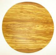 ピザ用オリーブの木のまな板円形、丸、ラウンドオリーブウッドカッティングボード Dモデル 直径30cm 【無垢一枚板イタリア製】 PLC_D69