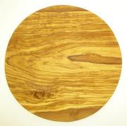 ピザ用オリーブの木のまな板円形、丸、ラウンドオリーブウッドカッティングボード Dモデル 直径30cm 【無垢一枚板イタリア製】 PLC_D72
