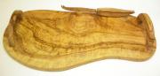 オリーブウッドのナイフ付きチーズ用サービストレー PLT_FRM01