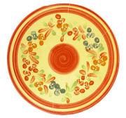 陶製なべしきトリベット(花柄・レッド)DSP_09