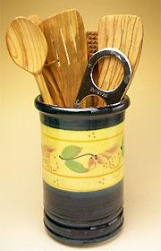陶製キッチンツールスタンド(フルール)PT_UST03
