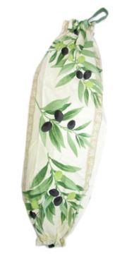 プロヴァンス柄ビニール袋・レジ袋ストッカー(オリーブ・オフホワイト) SAC_S59