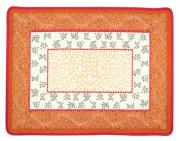 ジャガード織りプレイスマット(AUBRAC オブラック 花柄全3色)【フランス】 花柄 SET_LX45