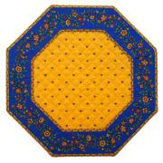 8角形オクトゴナルフレームテーブルマット38×38cmサイズ(カリソン&小花・イエロー×ブルー) 【フランス】TP_OCT22::他サイズお取り寄せ可能