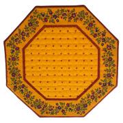 8角形オクトゴナルフレームテーブルマット38×38cmサイズ(カリソン&小花・イエロー×イエロー) 【フランス】TP_OCT23::他サイズお取り寄せ可能