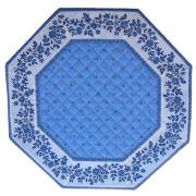 8角形オクトゴナルフレームテーブルマット38×38cmサイズ(カリソン&小花・ラベンダーブルー) 【フランス】TP_OCT25::他サイズお取り寄せ可能