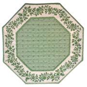 8角形オクトゴナルフレームテーブルマット38×38cmサイズ(カリソン&小花・ミントグリーン) 【フランス】TP_OCT28::他サイズお取り寄せ可能