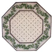 8角形オクトゴナルフレームテーブルマット38×38cmサイズ(カリソン&オリーブ・ホワイト) 【フランス】TP_OCT30::他サイズお取り寄せ可能