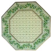 8角形オクトゴナルフレームテーブルマット38×38cmサイズ(カリソン&オリーブ・ミントグリーン) 【フランス】TP_OCT34::他サイズお取り寄せ可能