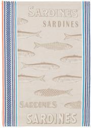 ジャガード織キッチンクロス、ディッシュクロス、ふきん、トーション【フランス】(Sardine サルディーヌ)TOR_47