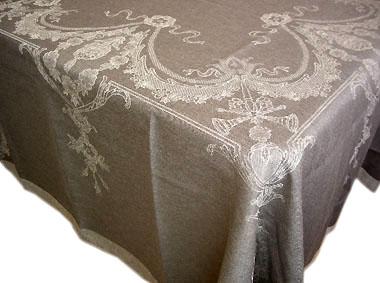 正方形テーブルクロス:トップクロステーブルクロスジャガード織りテフロン撥水加工160×160cmサイズ(ヴェルサイユ・グレー)【フランス】 NAP_C77::他サイズお取り寄せ可能