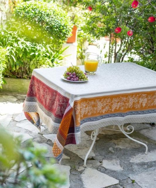 プロヴァンステーブルクロスジャガード織りテフロン撥水加工(Coteau コトー)全5サイズ2色【フランス】 NAP_25_365e