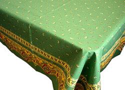 プロヴァンスプリント正方形テーブルクロス:トップクロス150×150cmサイズ Marat d'Avignon マラダビニョン(プロヴァンス・グリーン×イエロー)【フランス】NAP_C62