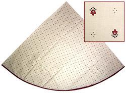 ラウンド・円形テーブルクロス撥水加工丸テーブル円卓用直径180cmサイズ(カリソン・ホワイト×ボルドー)【フランス】NAP_R35e