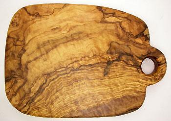 オリーブの木のまな板、オリーブウッドカッティングボード Cモデル PLC_C55