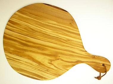 ピザ用オリーブの木のまな板円形、丸、ラウンドオリーブウッドカッティングボード Dモデル【無垢一枚板イタリア製】 PLC_D58