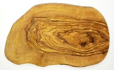 オリーブの木のまな板、オリーブウッドカッティングボード RUSTIQUE変形 PLC_RSTQ17