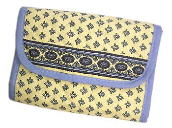 プロヴァンス柄お財布、パスケース(ルールマラン・ホワイト×ブルー)PRT_BLLT01