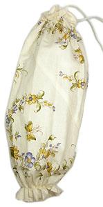 プロヴァンス柄ビニール袋・レジ袋ストッカー(花柄・オフホワイト)SAC_S43