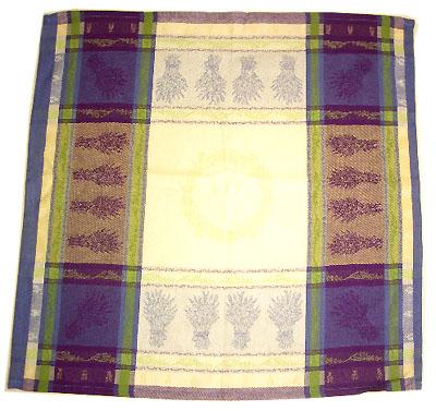ジャカード織りテーブルナプキン(ラベンダー・ラベンダーブルー×ベージュ)SER_P39【フランス】