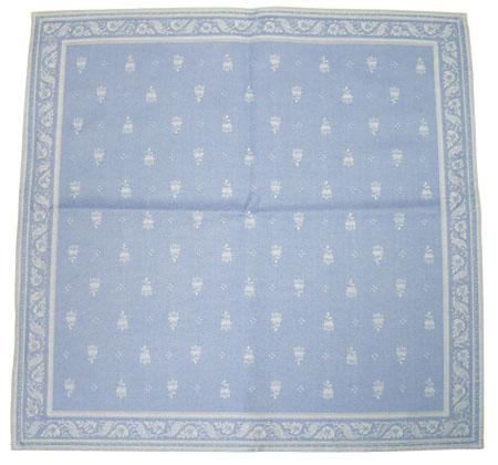 ジャカード織りテーブルナプキン Marat d'Avignon マラダヴィニョン (デュランス・アジュールブルー) SER_P47 【フランス】