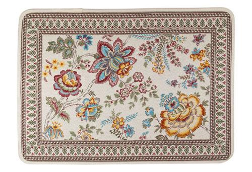 ジャガード織りプレイスマット(GARANCE ガランス・全3色)【フランス】 花柄 SET_LX42