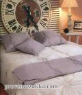 マリネットMARINETTE  ブティBOUTIS リネン麻キルトベッドカバー、ベッドスプレッド 180×260cmサイズ(ASTORIA・リラ) CVR_BT_LIT11