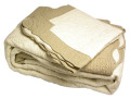 マリネットMARINETTE  ブティBOUTIS キルトベッドカバー、ベッドスプレッド180×260cmサイズ(EXODE・アイボリー×ナチュラル)CVR_BT_LIT09