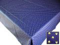 プロヴァンスプリントテーブルクロス撥水加工(カマルグ・ブルー)150×200cmサイズ【フランス】 NAP_20_162e