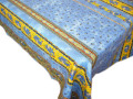 プロヴァンスプリントテーブルクロス撥水加工 Marat d'Avignon マラダビニョン(トラディション・ブルー)長方形全7サイズ【フランス】 NAP_20_173e