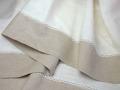 リネン麻プロヴァンステーブルクロス160×260cmサイズ(NUANCE・アイボリー×ナチュラル)【フランス】 NAP_25_145