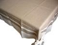 プロヴァンステーブルクロス リネン麻DECO(ナチュラル×ホワイト)145×250cmサイズ【フランス】 NAP_25_153