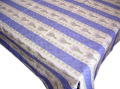 プロヴァンスプリントテーブルクロス撥水加工(ラベンダー2009・ブルー)160×240cmサイズ【フランス】 NAP_25_189e