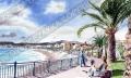 プロヴァンス風景絵画(NICE ニース / Baie des Anges 天使の湾)PT_MRT_04
