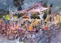 プロヴァンス風景絵画(Nice ニース,  ジャズフェスティバル) PT_MRT_21