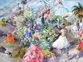 プロヴァンス風景絵画(Nice ニース,  カーニヴァル) PT_MRT_22