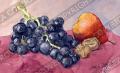 プロヴァンス風景絵画(プロヴァンス特産物、ぶどう・ウォールナッツ・洋ナシ) PT_MRT_31
