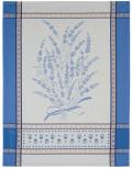 ジャガード織キッチンクロス、ディッシュクロス、ふきん、トーション【フランス】(グリニャン・ブルー)TOR_43