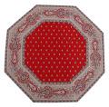 8角形オクトゴナルフレームテーブルマット38×38cmサイズ(Marat d'Avignon バスティード・ボルドー)【フランス】TP_OCT36::他サイズお取り寄せ可能