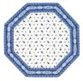 8角形オクトゴナルフレームテーブルマット38×38cmサイズ(Marat d'Avignon マラダヴィニョン トラディション・ホワイト×ブルー) 【フランス】TP_OCT37::他サイズお取り寄せ可能