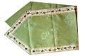 6角形フレームテーブルランナー45×150cmサイズ(オリーブ2005・グリーン)CHM_07 【フランス】