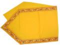6角形フレームテーブルランナー45×150cmサイズ(オリーブ2005・テラコッタオレンジ×イエロー)CHM_26 【フランス】