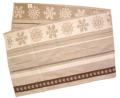 リネン麻混テーブルランナー Marat d'Avignon マラダビニョン46.5×150cmサイズ(モンターニュクリストー・ナチュラル) ノルディック柄 CHM_30 【フランス】