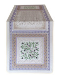 ジャガード織テーブルランナー50×170cmサイズ( LUBERON リュベロン) オリーブ柄 CHM_48 【フランス】