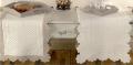 マリネットMARINETTE ブティBOUTIS キルトテーブルランナー50×150cmサイズ(アイボリー×ナチュラル) CHM_BT01 【フランス】