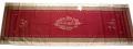 ジャガード織りテフロン撥水加工テーブルランナー50×150cmサイズ(モノグラム・ボルドー)【フランス】CHM_JCQ02