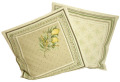 クッションカバージャガード織り Menton マントン ミモザ&レモン柄 45×45cmサイズ【フランス製】 HOU_C62