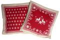 ジャガード織りクッションカバー Vallee ヴァレ(全2色) 45×45cmサイズ【フランス製】 HOU_JQD13